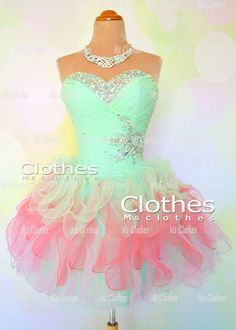 Custom Made Ball Gown Strapless Short Prom Dresses by MsClothes, $152.99