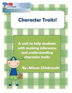 A little unit on characterization and making inferences through writing and a little flip book. Literary Terms, Literary Fiction, Writer Workshop, Workshop Ideas, Reading Strategies, Reading Comprehension, School Teacher, Teacher Stuff, Teaching Reading