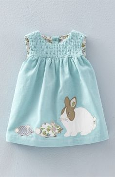Mini Boden 'Animal Friends' Appliqué Corduroy Pinafore (Baby Girls & Toddler Girls) Appliquéd bunnies and chicks make this old-fashioned smock the perfect choice for your little girl's Easter outfit. Mini Boden, My Baby Girl, Baby Girls, Toddler Girls, Boy Babies, Babies Clothes, Outfits Niños, Kids Outfits, Toddler Dress
