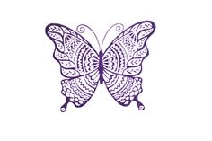 Deco Butterfly Rubber Stamp With Wood Backing by WereSowinLove