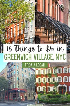 Things to Do in Greenwich Village NYC | Planning what to do in Greenwich Village NYC? Use this guide, written by a local, with tips about favorite restaurants, shops, where to have brunch, eat NYC pizza, see neighborhood favorites like the Friends or Carrie Bradshaw Apartments, as well as what to do at night in the Village. #travel #NYC #greenwich village Travel Usa, Travel Tips, Canada Travel, Travel Guides, Manhattan, Brooklyn, Hotels, Us Travel Destinations, New York City Travel