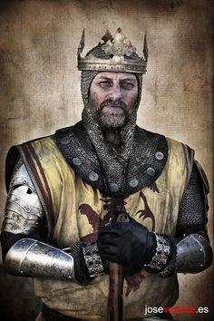 King Robert I (The Bruce), King of Scotland. Portrait by José Vicente García Bellido