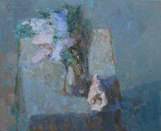 """Saatchi Art Artist Olga Geoghegan; Painting, """"Lilacs"""" #art"""