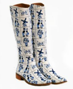 Dutch Delft boots.