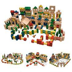 Bauklötze Holzbausteine 500 Stück Buche Bunt & Natur Holz Holzklötze NEU