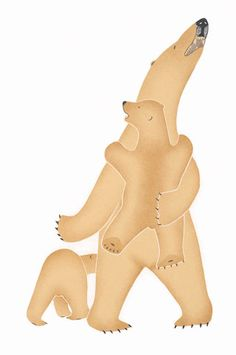Restless Cubs, by Kananginak Pootoogook (Inuit Artist), 2008 -- Stonecut & Stencil Native American Totem, Inuit Art, Artwork Display, Canadian Art, Bear Art, Indigenous Art, Aboriginal Art, Native Art, Painting Inspiration