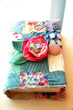 Vintage Quilt Block Bible/Book Cover  Fits a by RAEMISSIGMAN, $32.00