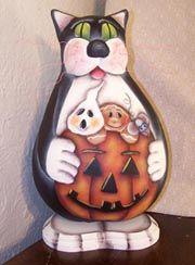 Halloween Cat Gourd