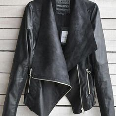 Women's Slim Motorcycle PU Soft Leather Vintage Zipper Jacket Black Coat Outwear | Clothing, Shoes & Accessories, Women's Clothing, Coats & Jackets | eBay!