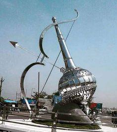 New cicrcle at harni Bhidbhanjan circle.. Image: Hema Patel #Vadodara #Baroda by barodamirror
