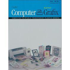 GRAFIX Ink Jet Film 8.5-inch x 11-inch 6-Pack - Clear