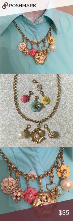 Spotted while shopping on Poshmark: Stella Dot Charlotte Necklace & Bloom Charms! #poshmark #fashion #shopping #style #Stella & Dot #Jewelry