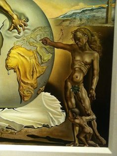 Detail: Geopoliticus Child Watching the Birth of the New Man, 1963, oil on canvas. The Dalí Museum, St Petersburg, FL