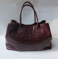 "Crocodile Handbag ""Lisbona"" www.atelierdoutremer.com"
