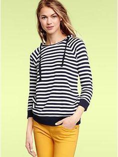 Striped terry hoodie | Gap