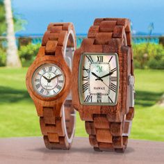 Solid KOA wood watches by www.martinandmacarthur.com.  #woodwatch. #koawatch.