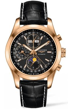 @longineswatches Watch Conquest Classic Moonphase Chronograph #bezel-fixed #case-material-rose-gold #case-width-42mm #chronograph-yes #date-yes #day-yes #delivery-timescale-call-us #dial-colour-black #gender-mens #l27988523 #luxury #moon-phase-yes #movement-automatic #official-stockist-for-longines-watches #packaging-longines-watch-packaging #style-dress #subcat-conquest #supplier-model-no-l2-798-8-52-3 #warranty-longines-official-2-year-guarantee #water-res...