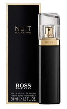 Hugo Boss Boss Nuit Fragrance: white, floral woody, powdery, fruity, balmy.