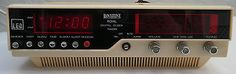1970s binatone royal #digital clock #radio white/cream #01/6217(h) ,  View more on the LINK: 	http://www.zeppy.io/product/gb/2/381612602374/