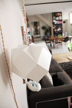 another version of the DIY paper origami lantern