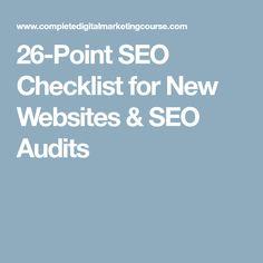 26-Point SEO Checklist for New Websites   SEO Audits fa62ab932c