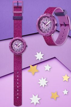 PURPLEAXUS (ZFCSP106) packs a real punch with purple metallic effects on the shock and water-resistant dial, alongside sparkly glitter on the eye-catching strap. A Swiss watch for kids that makes it cool to learn to tell the time, this is one gift for kids that keeps on giving. BPA free for ultimate safety and quality combined. Swiss Watch, Telling Time, Giving, Gifts For Kids, Punch, Swatch, Bracelet Watch, Safety, Metallic