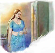 Art: Portrait of an Indian Slut-Wife Sexy Painting, Woman Painting, Artist Painting, Indian Women Painting, Indian Art Paintings, Medan, Drowning Art, Indian Drawing, Romance Art
