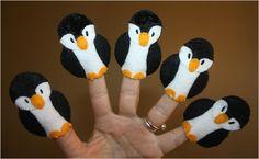 Five fingers full of penguins
