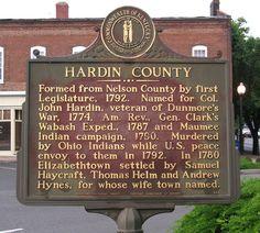 Hardin County Marker Elizabethtown KY.