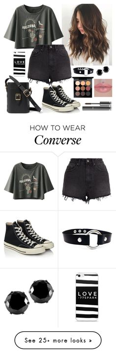 """""""Untitled #598"""" by alemcboss on Polyvore featuring Ksubi, Converse, West Coast Jewelry, MAC Cosmetics and Chanel"""