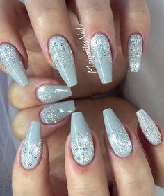 #coffinnails #glitternails #nailart #MargaritasNailz