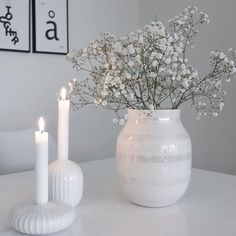 Good morning lines has taken this lovely picture of Omaggio vase she used to . - Home decor - Vase ideen Scandi Style, Nordic Style, Nordic Interior, Modern Interior, Room Inspiration, Interior Inspiration, Home Decor Vases, Danish Style, Beautiful Candles