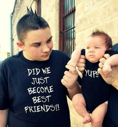 Excited to share the latest addition to my #etsy shop: 2 shirts- funny Did We Just Become Best Friends YUP Step BROTHERS combo bro shirt child tshirt yep dad Son boy newborn baby FREE Shipping!!! http://etsy.me/2CGLVRc #clothing #men #tshirt #black #ladies #matching #y