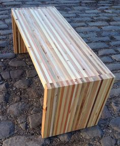 Reclaimed Pallet Wood and Industrial Steel Bench / Coffee Table Recycled Pallets, Wooden Pallets, Recycled Wood, Pallet Wood, Diy Wood, Wooden Pallet Projects, Diy Pallet Furniture, Wood Furniture, Pallet Ideas