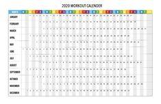 2020 peloton calendar  workout calendar  printable