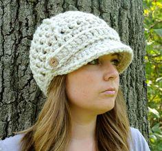 Newsboy Hat Womens Crochet Hat Womens Fashion by SimplyMadeByErin, $25.00