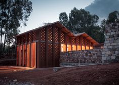 library at Burundi - BC architects - CEB and other natural materials! - vernacular inspiration