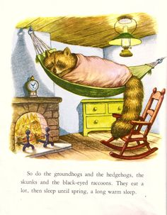 """'The Sleepy Book' (1948) by Margaret Wise Brown; illustration by Garth Williams - """"This collection of hypnotic, simple, rather wistful poems lulls a child along with the homely and softly drawn pictures."""""""