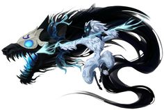 League of legends: Kindred Lol League Of Legends, League Of Legends Fondos, League Of Legends Characters, Izu, Lambs And Wolves, Magia Elemental, Character Art, Character Design, Lol Champions