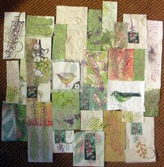Jane LaFazio, art quilt - layout in progress