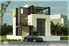 Indian home design is a popular Home Design website that covers Home Design ideas, Interior Design Tips, Exterior Views, Home Improvement resources Indian Home Design, Kerala House Design, Simple House Exterior Design, Modern House Design, Style At Home, Small Modern House Plans, Design 3d, Design Ideas, Home Building Design