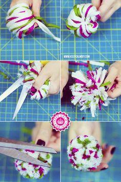 DIY | Como fazer pompom de lã perfeito | KeepCalmDIY