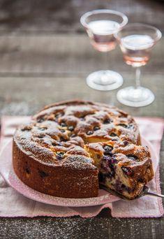 Ricottacake met blauwe bessen | Ricotta cake with blue berries
