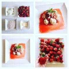 Vyzkoušejte tyto skvělé a jednoduché tvarohové knedlíky s jahodovým přelivem. Chutnají skvěle.