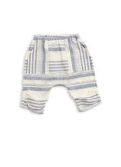 Organic Summer Crop Pant / Blue Stripe