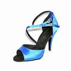 Customized Women's Satin Ankle Strap Latin / Ballroom Dance Shoes (More Colors) – USD $ 39.99