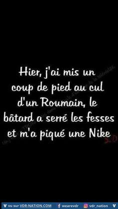 C'est juste pour rire, vous vexez pas les Roumains ;-) Funny Art, Funny Memes, Jokes, French Meme, Fun Facts, Cards Against Humanity, Messages, Phrases, Smileys