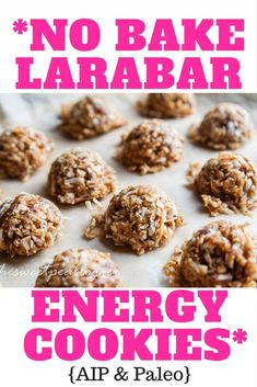 No Bake Larabar Cookies {AIP & Paleo}