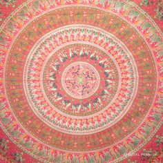 Unique Indian Round Mandala Animal Tapestry Wall Hanging Decorative Bed Cover Art on RoyalFurnish.com, $22.99