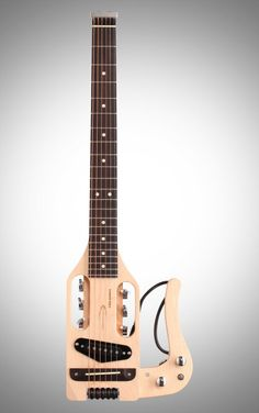 #Traveler Guitar Pro Series Electric Guitar: This #travel #guitar is small-sized yet fully loaded with features, including a detachable lap rest and acoustic/electric option.